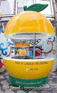 Quiosque de Laranja + Máquina de suco de Laranja