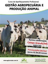 CURSO DE GESTÃO AGROPECUÁRIA E PRODUÇÃO ANIMAL (GAPA)