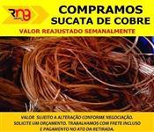 Sucata de cobre fios e cabos.