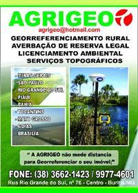 SERVIÇOS DE GEORREFERENCIAMENTO RURAL