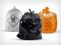 Sacos de lixo descartaveis