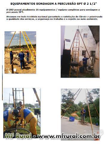 Serviços Geotécnicos Sondagem a Percussão SPT, Rotativa Mista, Fundações, Contenções