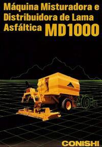 Usina Móvel de Asfalto e Lama Asfaltica Rebocada – MD 1000