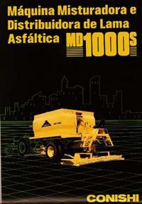 Usina Móvel de Asfalto e Lama Asfaltica Rebocada – MD 1000 S