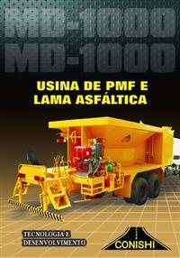 Usina Móvel de Asfalto e Lama Asfaltica – MD 1000 Truck / Toco