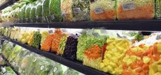 Verduras embaladas a vácuo
