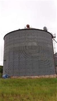 Silo, silo de aço, armazenamento, galpão, tulha.