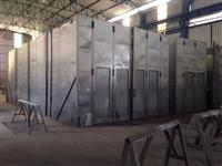 Cabine de pintura aberta industrial