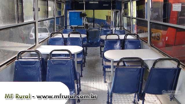 Ônibus vivencia, carreta vivencia, ônibus rurícula caixa de água refrigerada ,banheiro químico.
