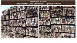 CRUZETAS DE MADEIRAS - TAMANHO 2,00 METROS