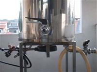 Panela/ tina Cerveja 85l C/ Queimador  Inox 304 Mostura/fervura ou agua de lavagem.