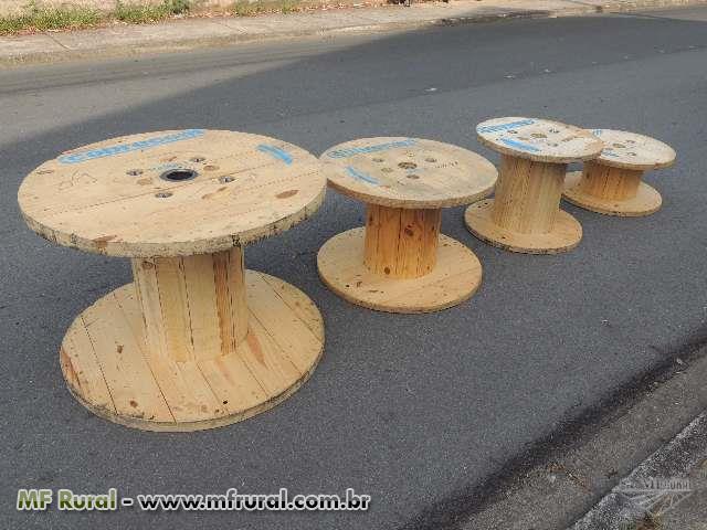 Carretel de madeira - Diversas unidades - Medidas padrão