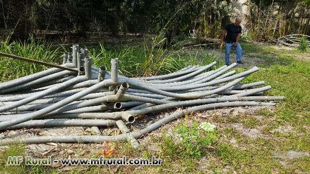 Estrutura metálica para estufa, Galpão, garagem
