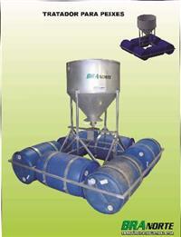 Alimentador de açude ( Tratador de peixe ) automatico