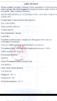 Pés de Frango (grade A) para Xiamen