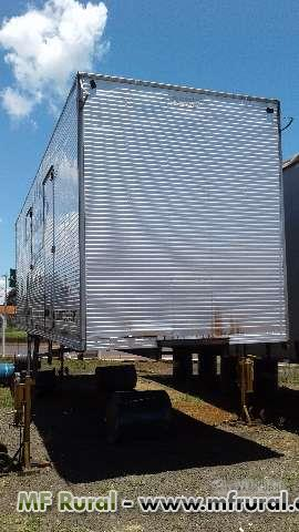 Baú Alumínio 9.60 X 3.00 X 2.60 C/ Porta Lateral.