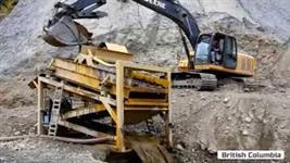 Planta móvel processamento ouro
