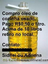 Compro óleo vegetal. Gorduras vegetais usadas...preferencialmente retiro no ABC ou grande São Paulo.