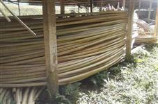 Canos / tubos plástico para estufa agrícola com 8 metros - usado