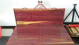Plataforma Traseira ACJ reforçada de madeira e ferro - NOVA