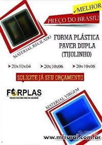 Forma Plástica Paver (Tijolinho/intertravado)  H4
