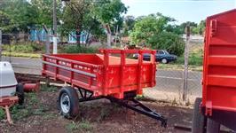 Carreta 2 rodas basculante
