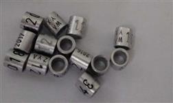 Anilhas  Para Pássaros Canários 3,0mm Alumínio Pacote De 10 Unidades .