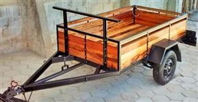 Carretinha de madeira 500 kg