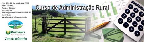 Curso de Administração Rural ( Em Feira de Santana - Bahia)