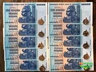 5 Caixas Zimbábue azuis
