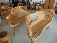 Moveis rustico tronco e raiz de arvore