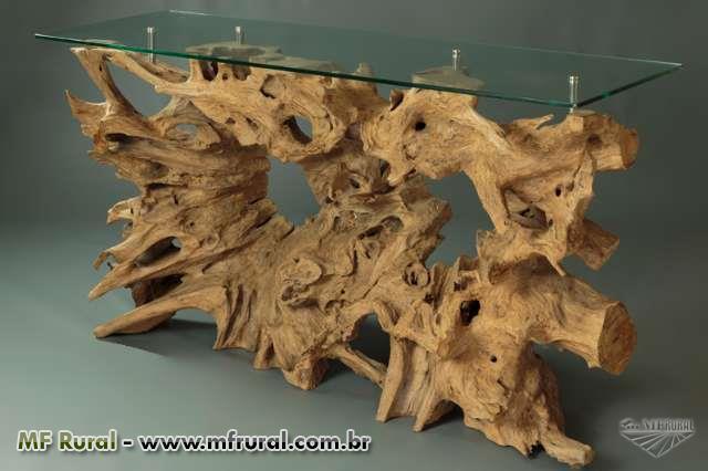 Artesanato Indigena Onde Comprar ~ Aparador em madeira rustica tronco raiz de arvore mesa de centro Diversos Móveis