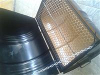 Churrasqueira à bafo de tambor de 200 litros