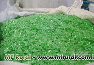 Flake pet  verde