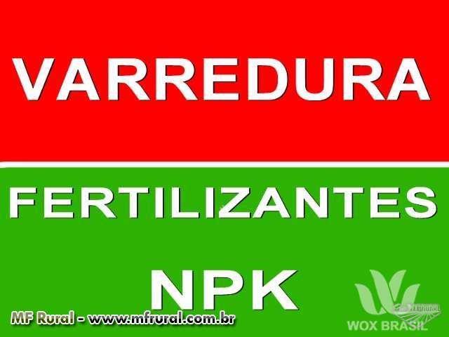 Fertilizantes NPK Varredura e Salvados