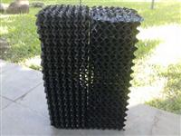 Colmeia em PVC preto para climatizadores