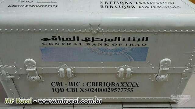 Caixas de Dinares Iraquianos