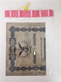 Titulo histórico Aguia Negra 27500 Pesos 1843