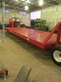 Carreta transportadora de plantadeiras e implementos