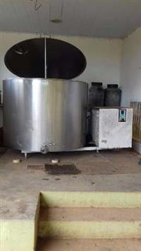 Tanque de expansão para resfriamento de leite. Capacidade de 1.100 litros