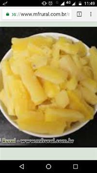 Aipim de mesa amarela manteiga