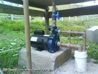 perfuração e manutenção de poço semi artesiano