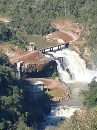 Usina Hidrelétrica. CGH 1 MW. Região Serrana do Rio Grande do Sul.
