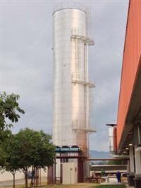 Reservatórios metálicos para água, tanques pipas, tanques para combustível e tubulação.