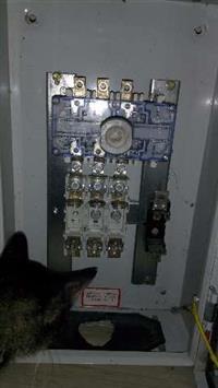 Painel elétrico seccionadora