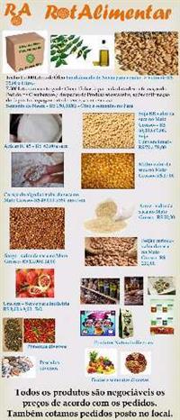 Açúcar, Arroz, Sorgo, Soja, Milho, Óleo, Semente de Neem, Feião, Urucun...entre outros