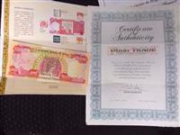 Caixas de Dinares Vermelhos com certificado
