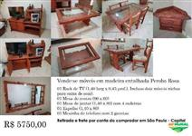Vende-se Móveis em madeira entalhada - Peroba Rosa