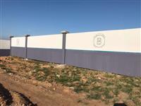 Muro de concreto Placao Personalizado
