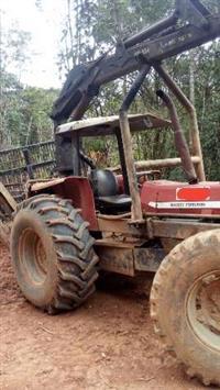 Trator Carregador Florestal MF 299 com Masal e Carretão